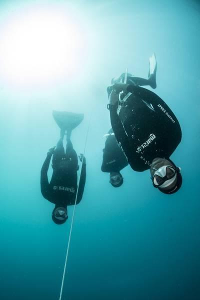 Allenamento allievi katabasis freediving portofino