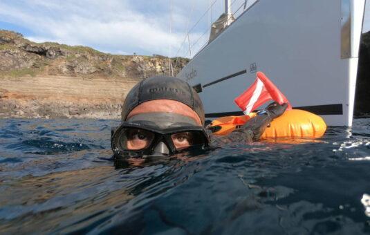 Recreational freediving katabasis Tuscany